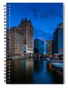 Riverside Blue Hour Spiral Notebook