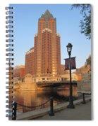 Riverwalk And Lamp Post Spiral Notebook