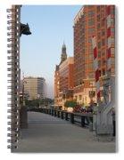 Riverwalk Bridge Crossing Spiral Notebook
