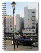 Riverwalk Couple On Bench Spiral Notebook