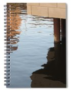Riverwalk Low View Refections Spiral Notebook