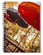 Riverwalk Umbrellas Spiral Notebook