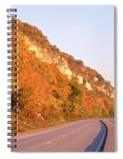 Road Along A River, Great River Road Spiral Notebook