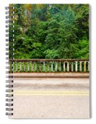 Road And Lush Green Forest Spiral Notebook