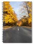 Road In Autumn Forest Spiral Notebook