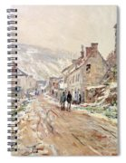 Road In Vetheuil In Winter Spiral Notebook