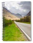 Road Into Glen Coe Spiral Notebook