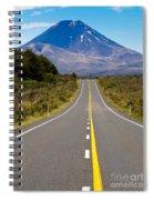 Road Leading To Active Volcanoe Mt Ngauruhoe In Nz Spiral Notebook
