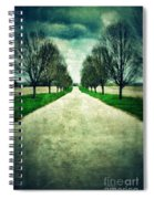 Road Lined By Trees Spiral Notebook