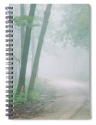 Road Passing Through A Forest, Skyline Spiral Notebook