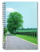 Road Passing Through Horse Farms Spiral Notebook