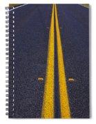 Road Stripe  Spiral Notebook