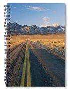 Road Through Desert Spiral Notebook