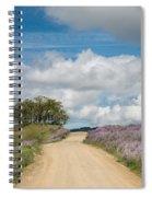 Road Through Lupine Spiral Notebook
