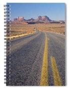 Road Through Monument Valley, Utah Spiral Notebook