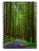 Road Through The Woods Spiral Notebook