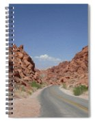 Road Throught The Valley Of Fire Spiral Notebook