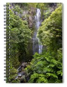 Road To Hana Waterfall - Waimea Valley Maui Hawaii Spiral Notebook