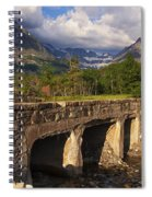 Road To Many Glacier Spiral Notebook