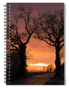 Road To The Night Spiral Notebook