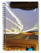 Road Viewed From A Car, Atlanta, Georgia Spiral Notebook