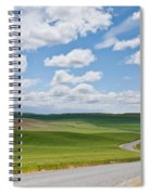 Road Winding Through The Palouse Wheatfields Spiral Notebook