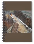 Road With Dense Fencing  Spiral Notebook