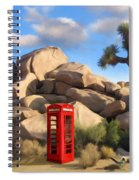 Phone Booth In Joshua Tree Spiral Notebook