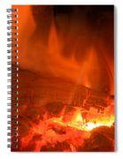 Face In The Fire Spiral Notebook