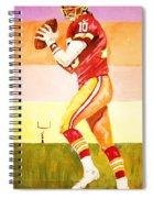 Quarterback In Motion Spiral Notebook