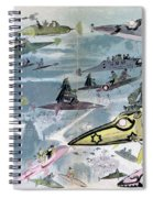 Robida Future Travel, C1902 Spiral Notebook