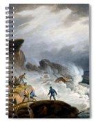 Robin Hoods Bay, Yorkshire, 1825 Spiral Notebook