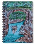 Rock Bridge Over Falls Spiral Notebook