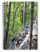 Rock Climbing Youths Spiral Notebook