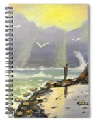 Rock Fishing At Wombarra  Spiral Notebook