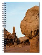 Rock Formations And Abandoned Building Spiral Notebook