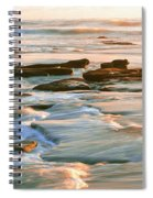 Rock Formations At Windansea Beach, La Spiral Notebook