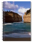 Rock Formations In The Ocean, Loch Ard Spiral Notebook