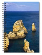 Rock Formations In The Sea, Algarve Spiral Notebook