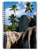 Rock Formations On The Beach, Anse Spiral Notebook