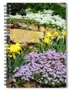 Rock Garden Flowers Spiral Notebook