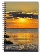 Rock Harbor Sunset 2 Spiral Notebook