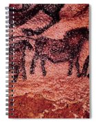 Rock Painting Of Tarpans Ponies, C.17000 Bc Cave Painting Spiral Notebook