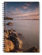 Rock Peninsula In Humboldt Bay Spiral Notebook