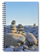 Rock Piles Zen Stones Little Hunters Beach Maine Spiral Notebook