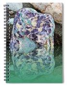 Rock Reflections - Water - Beach Spiral Notebook