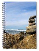 Rock Sculpture At The Beach Spiral Notebook
