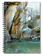 Rock Wall And River Spiral Notebook
