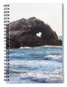 Heart Rock Near San Francisco Ca Cliff House Spiral Notebook