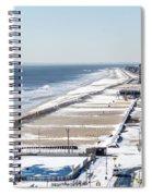 Rockaway Beach During Arctic Vortex Spiral Notebook
